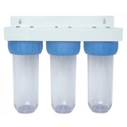 Filtru de apa BR10 (sistem filtrare) cu 3 stadii